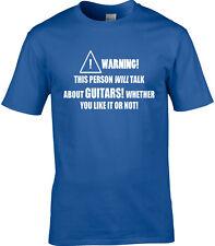 Guitar Guitars Mens T-Shirt Funny Hobby Statement Gift Rock Music Instrument