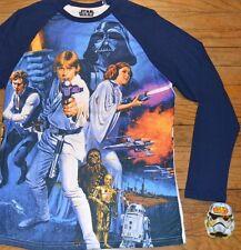 Star Wars Long Sleeve Character T-Shirt Luke Skywalker Leia Licensed Mens Tee