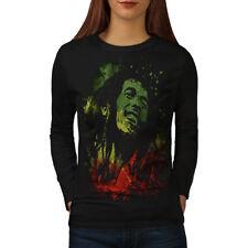 Legend Bob Rasta Marley Women Long Sleeve T-shirt NEW | Wellcoda