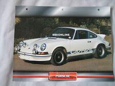 Porsche 911 Carrera 2.7 RS Dream Cars Card