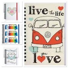 Licenced Volkswagen Beetle or Campervan Jotter Notebook Pads A6 Lined 12x15cm