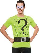 Rubies DC Comics The Riddler Batman Adult Mens Halloween Costume Shirt 887405