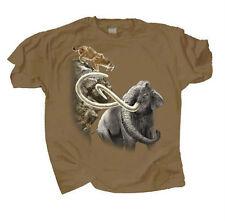 Kids Cotton T Shirt Pleistocene Sabertooth Cat Giant Sloth Dire Wolf  Sm Md Lg