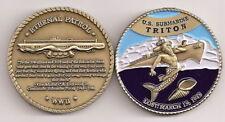 USS Triton SS 201 Submarine Challenge Coin DBF USN