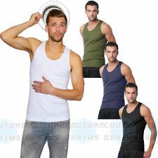 Mens Gym Muscle Vest Bodybuilding Plain 100% Cotton Tank Top Fitness Athletic