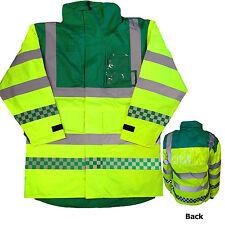 Ambulancier haute visibilité emt Anorak parka EN471 classe 3 hiviz Jacket sécurité manteau