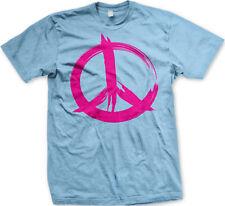 Peace Sign Paint Pink Hippie 60s Dove War Protest Love Flower Make Men's T-Shirt