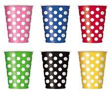 POLKA DOTS CUPS PK / 6 , DECORATIVE DOTS, 12 OZ. POLKA DOT PARTY CUPS