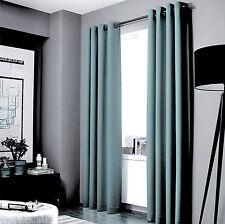 100% Blackout Panels Heavy Thick Grommet Bay Window Curtain 1 Set Slate Blue