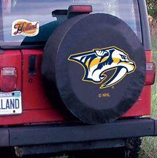 Nashville Predators NHL Tire Cover on Black Vinyl