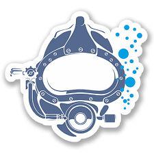 2 x scuba diver Autocollant Voiture Vélo Casque Portable Decal masque Cadeau # 4146 / sv