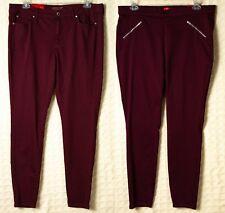 c524c90c98892 JENNIFER LOPEZ Maroon Skinny Jeggings Leggings STRETCH JLO Jeans RED Pants  NWT