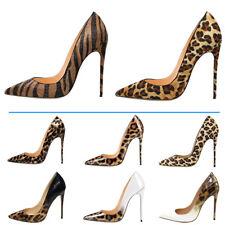 Verocara Women Pointed Toe Stiletto High Heel Leopard Upper Sexy Dress Pump Shoe