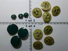 1 lotto bottoni gioiello strass smalti perle verde buttons boutons vintage g11