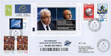 "CE62-IVa FDC RECO Conseil Europe ""M. Mahmoud ABBAS, Président Palestine"" 10-2011"