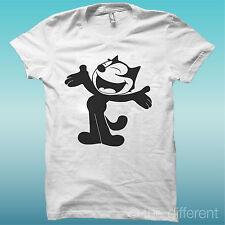 "T-SHIRT "" LA CAT "" BLANC LA HAPPINESS IS HAVE MY T-SHIRT NEUF"