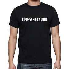 einwanderung, Herren Tshirt Schwarz, Hommes Tshirt Noir, Geschenk, Cadeau