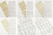 Autoadesivo lettere e numeri GLITTER & Diamante