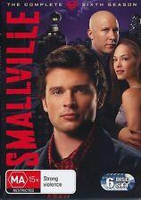 EX RENTAL SMALLVILLE DVD SEASON SIX (6) 6 DISC TV SERIES WITHOUT SLEEVE GUARANTE