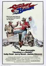 """ Smokey And The Bandit "" Burt Reynolds Retro Movie Poster A1a2a3a4sizes"