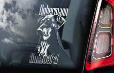 Dobermann on Board - Car Window Sticker - Doberman Pinscher K9 Sign Decal - V03