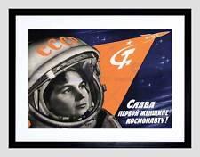 PROPAGANDA Donna COSMONAUTA URSS vladimirovna tereškova Nero Framed Art Print b12x4650