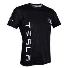 Tesla Motors Car logo handmade high quality graphic men's t-shirt
