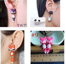 2pc 1 Pair Cute Unique Animal Dangle Drop Earring Set Fox My Neighbor Totoro