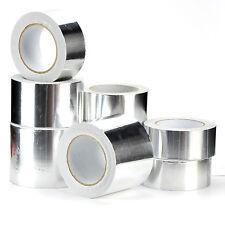 HEAT INSULATION ALUMINIUM FOIL TAPE 50M X 72MM SELF ADHESIVE DUCT ROLLS