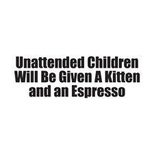 Unattended Children Kitten - Decal Sticker - Multiple Colors & Sizes - ebn3208