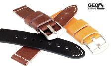 Schnittband Old Military Soft-Rindleder Uhrenband 3 Farben - 4 Breiten