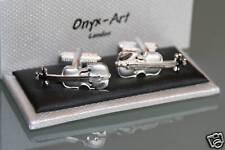 Novelty Mens Cufflinks -  Music Violin Design * New