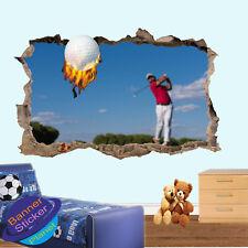 Appassionato di Golf HIT Power GOLF Shot stanza ufficio Vivaio Adesivi Murali ARTE Murales VA4