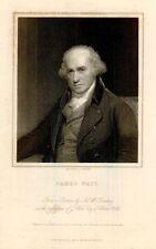 "JAMES WATT   from ""Gallery of Portraits"" 1833"