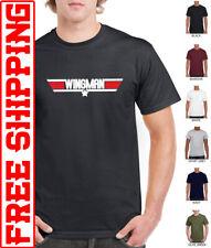 Top Gun WINGMAN T Shirt Maverick Goose Tomcat Retro movie best man stag do top