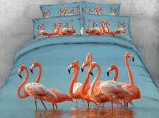 Orange beauty Swan 3D Printing Duvet Quilt Doona Covers Pillow Case Bedding Sets