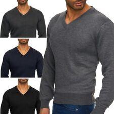 Hombre suéter suéter de punto con cuello en V Sweater (varios colores)