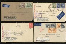 AUSTRALIA 1941-47 ADVERT ENVELOPES SHOES BUSM Co...AIRS + CENSORS...4 COVERS
