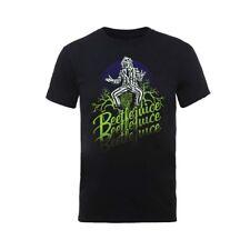 Beetlejuice Michael Keaton Green Logo Official Tee T-Shirt Mens