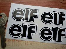 ELF schwarz & weiß Geformt Auto Fahrrad Aufkleber 50mm 4 stück Set Rallye Rennen