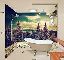 3D Silver Forest Tree 1 WallPaper Bathroom Print Decal Wall Deco AJ WALLPAPER CA
