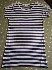 Next Ladies Night Shirt Navy & White Striped UK 8