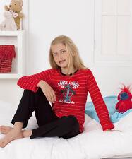 long fille pyjamas manches longues impression à rayures taille 128 jusqu'à 164