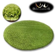 Tapis PETIT PRIX ROND POILU 5cm vert haute qualité NICE en Touche Tapis beaucoup