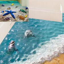 Floor stickers 60*90cm 3D dolphin waterproof bathroom starfish wall sticker UK.
