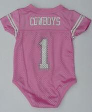 Nwt Dallas Cowboys #1 Bébé Jersey Onepiece Creeper Paillette Taille 3 6 9 12