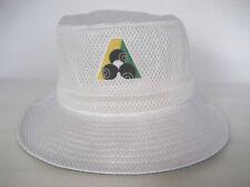 Avenel White Mesh Lawn Bowls Bucket Hats