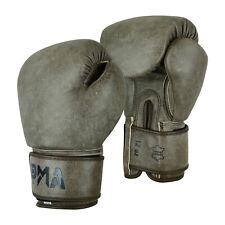 Playwell IN Pelle Marrone Pro Elite Boxe Guanti Sparring Calci Muay Thai Mma
