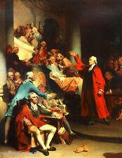 Handmade Oil Painting repro Patrick Henry Speech