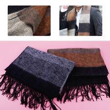2018 Fashion Men Warm Winter Scarf Pashmina Striped Acrylic Fiber Shawl Scarves